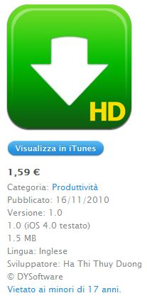 Download Manager Pro HD - un gestor de descargas de IPAD