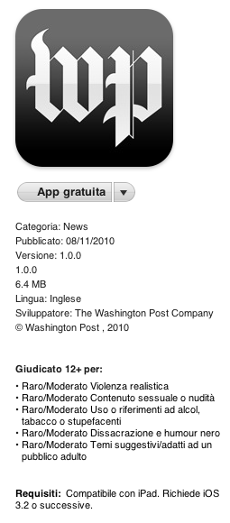 El Washington Post aparece IPAD
